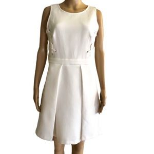 GB dress in off white fit & flare style